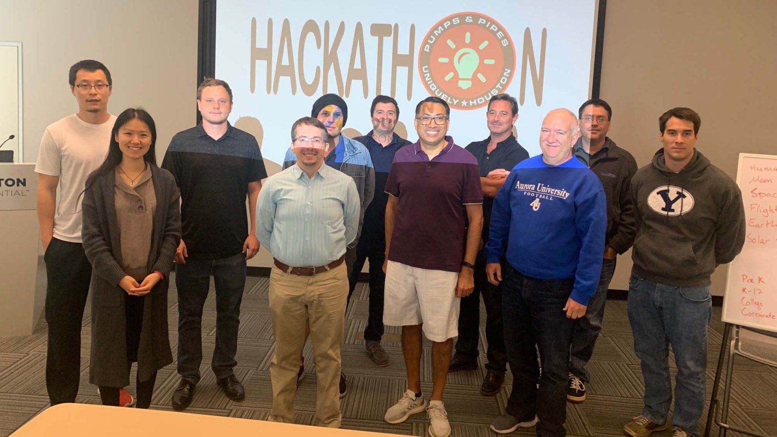 Hackathon participants at Houston Exponential